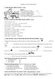 English Worksheet: movers exam