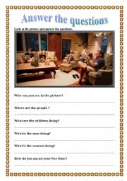 English Worksheets: Look at the picture and answer the question