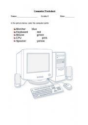 computer keyboard worksheet for grade 1 english teaching worksheets computer partsenglish. Black Bedroom Furniture Sets. Home Design Ideas