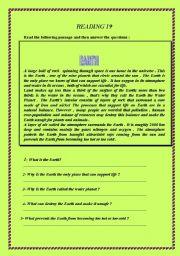 English Worksheets: 15 reading comprehension worksheets