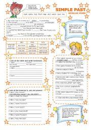 English Worksheet: SIMPLE PAST REGULAR VERBS 2/3