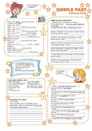 English Worksheet: SIMPLE PAST REGULAR VERBS 3/3