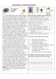 English Worksheets: The Legend of the Wawel Dragon