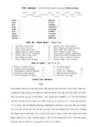 English worksheet: Mix exercises