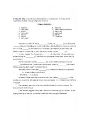 English Worksheets: Friday the 13th Mad Lib