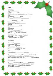 LAST CHRISTMAS - ESL worksheet by yoanalop