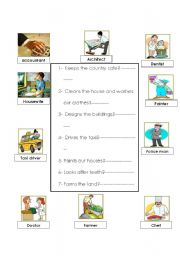 English worksheet: Jobs and professions
