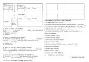 English Worksheet: asking for way and describing way