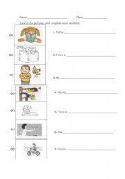 English Worksheets: write a sentence 1