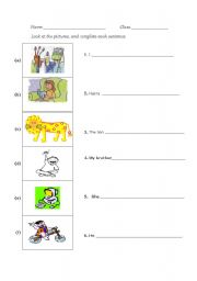 English Worksheets: write sentences 4
