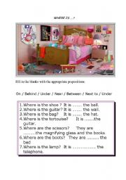 English Worksheets: WHERE IS/ARE ........ ?