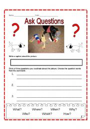 English Worksheets: Question the Picture