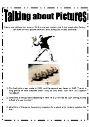 English Worksheets: Talking about pictures
