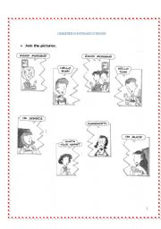 English Worksheets: Greeting/Introductions
