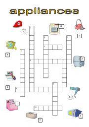 English Worksheets: APPLIANCES crossword