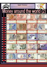 English Worksheet: Money around the world (part 2)