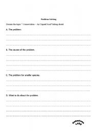English Worksheets: problem solving
