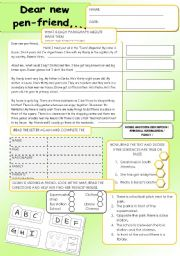 English Worksheet: Informal letters - General Revision