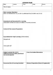 Common Core Lesson Plan Template For High School Teaching English - Easy lesson plan template