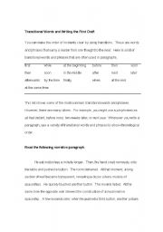 English Worksheets: Transitional Words