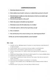 English Worksheets: harold and maude questions