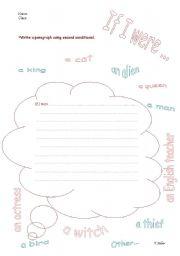 English Worksheets: If I were......