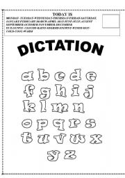 English Worksheets: dictation
