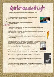 English Worksheets: Quotations about Light (1)