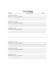 English Worksheets: Goal setting