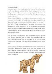 English Worksheet: the trojan horse