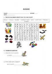 English Worksheets: I collect things
