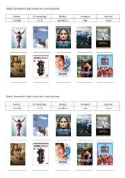 English Worksheets: Movie Types