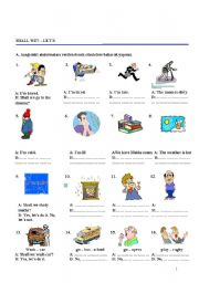 English Worksheet: SHALL WE LET�S