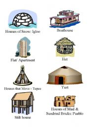 English Worksheets: Homes Around the World