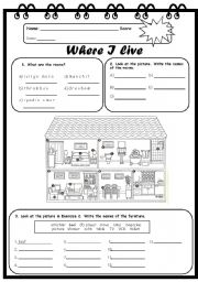 FRENCH Writing Activity WORKSHEET,Back to School Printable,Where ...