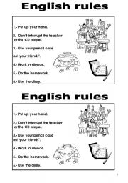 Worksheets Classroom Rules Worksheet classroom rules worksheet by nistamaris2002 english rules