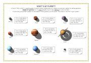 English Worksheet: planets, solar system