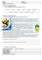 English Worksheet: whole year test (sports, festivals, biography, clothes and food )