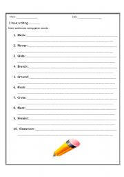 English Worksheets: Writing