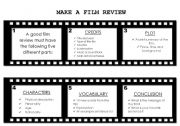 English Worksheet: Making a film review