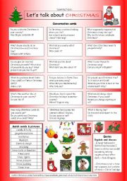 English Worksheets: Let�s talk about CHRISTMAS