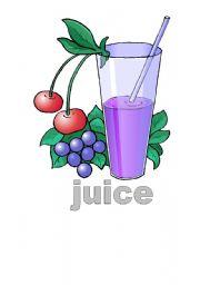 English Worksheets: juice