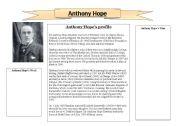 English Worksheets: Antony Hope