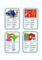 English Worksheet: Card game