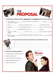 English Worksheet: The proposal - Video Activity