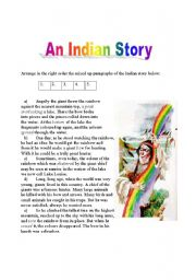English Worksheet: The Story of the Rainbow - 2 pages