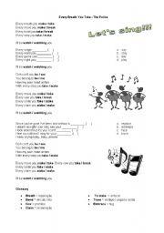 English Worksheet: Every breath you take