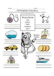 English teaching worksheets: Christopher Columbus