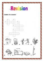 English worksheet: Verbs,toys,animals,food revision.