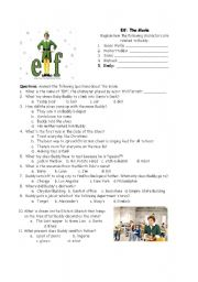 English Worksheets: Elf - A Christmas Movie
